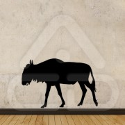 "Silhueta Vinil Autocolante Decorativo ""GNU"" 00"