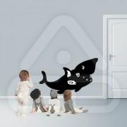 """Sticker em Forma de Tubarão """"Cartoon"""""""