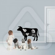 Sticker em Forma de Vaca