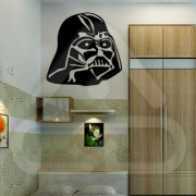 "Silhueta Vinil Autocolante Decorativo ""STAR WARS HELMET DARTH VADER"""