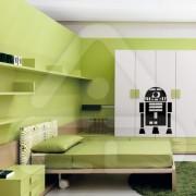 "Silhueta Vinil Autocolante Decorativo ""STAR WARS R2-D2"""