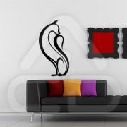 """Silhueta Vinil Autocolante Decorativo """"GATO DESIGN"""" 04"""