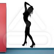 "Silhueta Vinil Autocolante Decorativo ""SEXY GIRL"" 01"