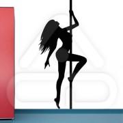 """Silhueta Vinil Autocolante Decorativo """"STRIPER GIRL"""" 02"""