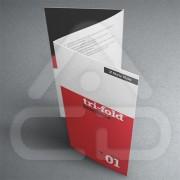 Folhetos Desdobráveis Formato A3 100g 1 dobra 50 Unidades