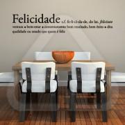 "Texto Vinil Autocolante Decorativo ""FELICIDADE"" 01"