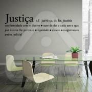 "Texto Vinil Autocolante Decorativo ""JUSTIÇA"" 00"