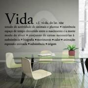 """Texto Vinil Autocolante Decorativo """"VIDA"""" 00"""