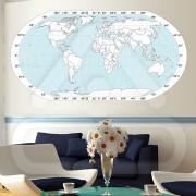 """Mapas Vinil Autocolante Decorativo """"MAPA MUNDO"""" 04"""