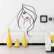"Silhueta Vinil Autocolante Decorativo ""MULHER DESIGN"" 02"