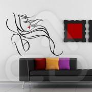 "Silhueta Vinil Autocolante Decorativo ""MULHER DESIGN"" 03"