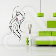 "Silhueta Vinil Autocolante Decorativo ""MULHER DESIGN"" 04"