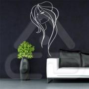 "Silhueta Vinil Autocolante Decorativo ""MULHER DESIGN"" 08"