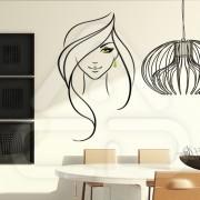 "Silhueta Vinil Autocolante Decorativo ""MULHER DESIGN"" 09"