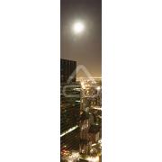 Mural Parede Vertical Lua Sobre Cidade