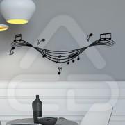 "Silhueta Vinil Autocolante Decorativo ""PAUTA MUSICAL"" 03"
