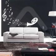 "Silhueta Vinil Autocolante Decorativo ""PAUTA MUSICAL"" 05"