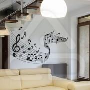 "Silhueta Vinil Autocolante Decorativo ""PAUTA MUSICAL"" 07"