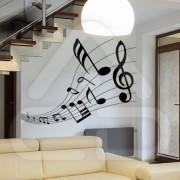 "Silhueta Vinil Autocolante Decorativo ""PAUTA MUSICAL"" 09"