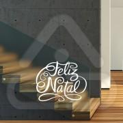 """Silhueta Vinil Autocolante Decorativo """"FELIZ NATAL"""" 00"""