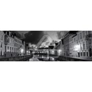 Painel Panorâmico Parede Canal Veneza Noite