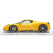 Painel Panorâmico Parede Ferrari 458 itália Amarelo