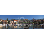 Painel Panorâmico Parede Lago Marina Barcos