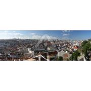 Painel Panorâmico Parede Lisboa Vista Castelo S. Jorge