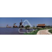 Painel Panorâmico Parede Moinhos Típicos Holanda