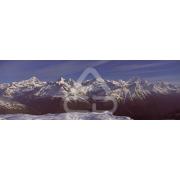 Painel Panorâmico Parede Neve Montanhas 01