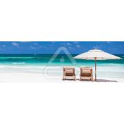 Painel Panorâmico Parede Cadeiras na Praia