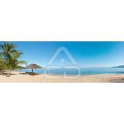Painel Panorâmico Parede Cadeiras em Praia Tropical