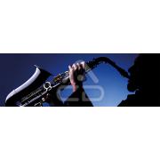Painel Panorâmico Parede Homem Tocando Saxofone