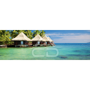 Painel Panorâmico Parede Cabanas Tropicais