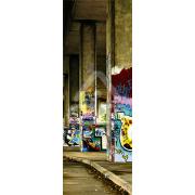 Decoração Vinil Forrar Portas Graffiti