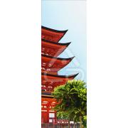 Decoração Vinil Forrar Portas Templo Japones