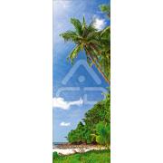 Decoração Vinil Forrar Portas Praia Tropical