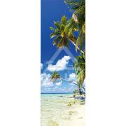 Decoração Vinil Forrar Portas Praia Tropical 01