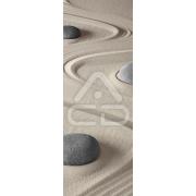 Decoração Vinil Forrar Portas Pedras Zen Linhas Onduladas