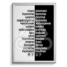 Poster Papel Palavra Homem / Mulher