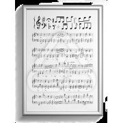 Poster Papel Pauta Musical