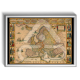 Poster Papel Mapa Europa Cidades Antigo