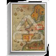 Poster Papel Mapa Europa Antigo