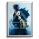 Poster Papel Saxofonista Jazz