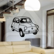 "Silhueta Vinil Autocolante Decorativo ""FIAT 600"" 00"
